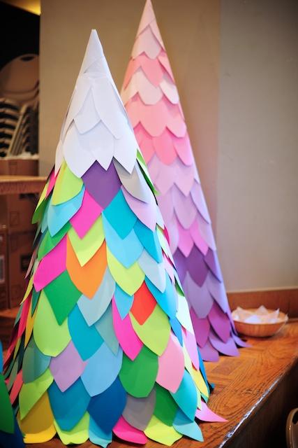 DIY Paper Christmas Trees | Boolah Baguette